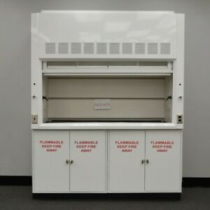 Image Is Loading 6 Foot Fume Hood W Two Flammable Cabinets
