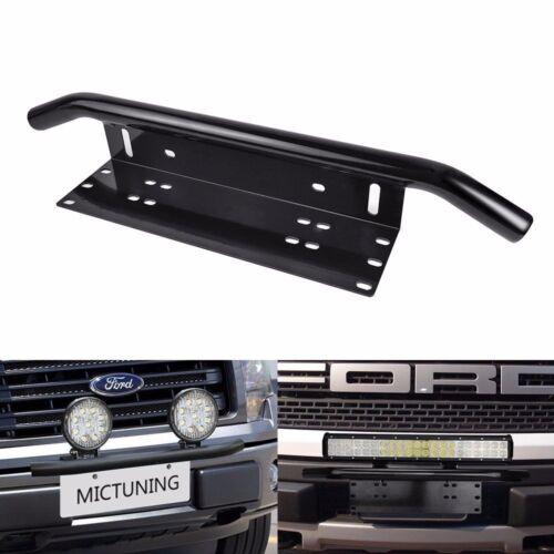 "Universal 23/"" Car Front Bumper BullBar License Plate Mounting Bracket Holder HD+"