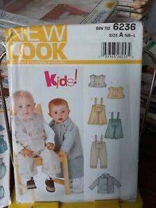Oop-New-Look-Kids-6236-infants-overalls-jumper-vest-jacket-sz-nb-24-lb-NEW