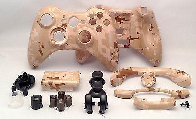 xbox 360 Custom hydro dipped Desert Camo Controller Shell Parts Army Digital