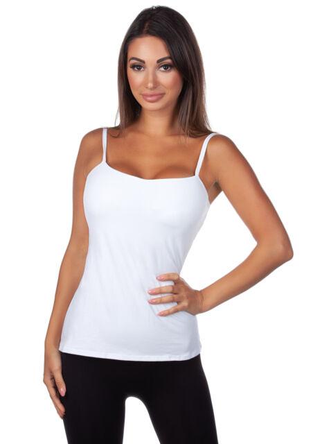 Panache Womens Cotton Lycra Camisole W// Built In Bra Pick SZ//Color.