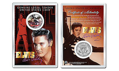 Officially Licensed JFK Kennedy Half Dollar US Coin Elvis Presley Hound Dog