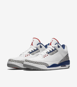Nike YOUTH Air Jordan 3 Retro OG BG TRUE BLUES SIZE 4.5Y 6e1218064
