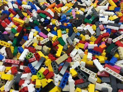 1x-wide only 50 Lego 1x2 1x3 1x4 2x2 corner Bricks Lot bulk mixed colors