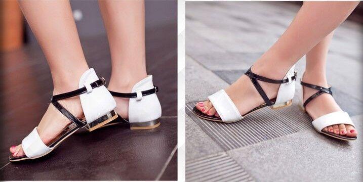 1bcafed572 Sandalia sandalia en blancoo tacón bajo código 8342 mujer  vslsbq6998-zapatos nuevos