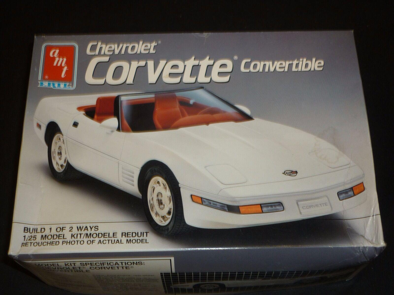 AMT   ERLT un made plastic kit of a Chevrolet corvette congreenible,  boxed