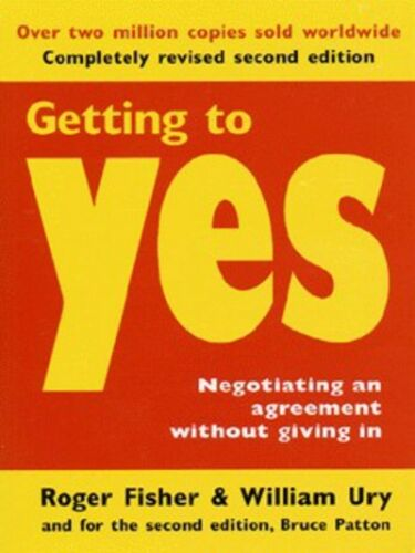1 of 1 - Getting to yes: negotiating an agreement without giving in by Roger
