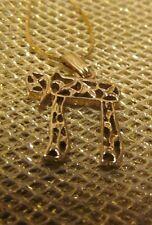"14K Yellow Gold Jewish Symbol Pendant on Necklace ~ 18"" 14K Gold Chain ~ 2.6 g"