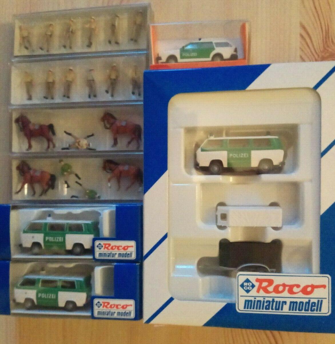 Polizei-Einsatzzug  Pferdestaffel  Preiser  Roco  Euromodell 1 87