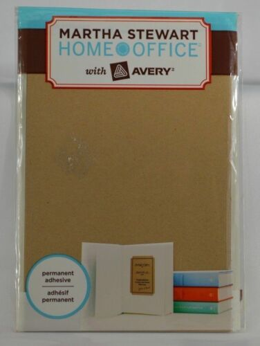 7pk Martha Stewart with Avery Brown Kraft Labels 3 3//4in x 5 3//16in 42pc total