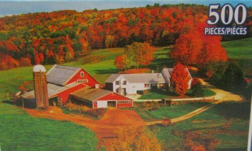 Fazenda No Outono quebra-cabeça Colorida Nova Na Caixa 500 Peças