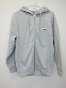 Palace-Men-039-s-Basically-A-Zip-Hoodie-Small-Grey-New