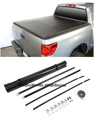 For 14-Up Toyota Tundra Crew Max 5.6 Ft Short Bed Roll-Up Soft Tonneau Cover