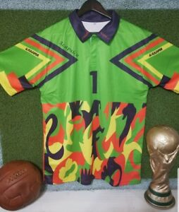 63468c640ec Mexico Verde Multi-Color Jorge Campos #1 Goalkeeper Jersey Size M | eBay