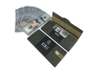 4-PACKS-of-BENJI-100-Bill-King-Size-Hemp-Rolling-Paper-Money-w-Tips-20-Per-Pack