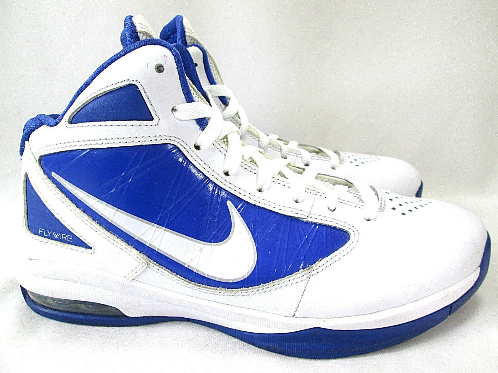 NIKE Air MAX Destiny TB Fly Wire High Top Shoes Mens 8 White Blue 454140-103 Brand discount