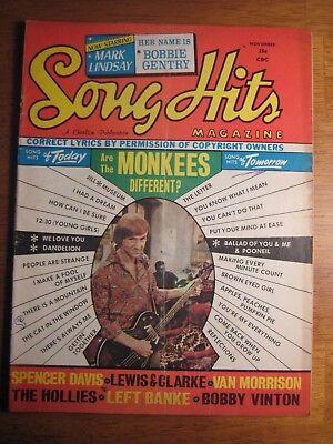 LOOKEE--> SONG HITS MAGAZINE: THE MONKEES! Nov 1967 | eBay