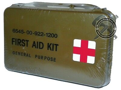 US Military General Purpose First Aid Kit Water Proof Case NSN-6545-00-922-1200