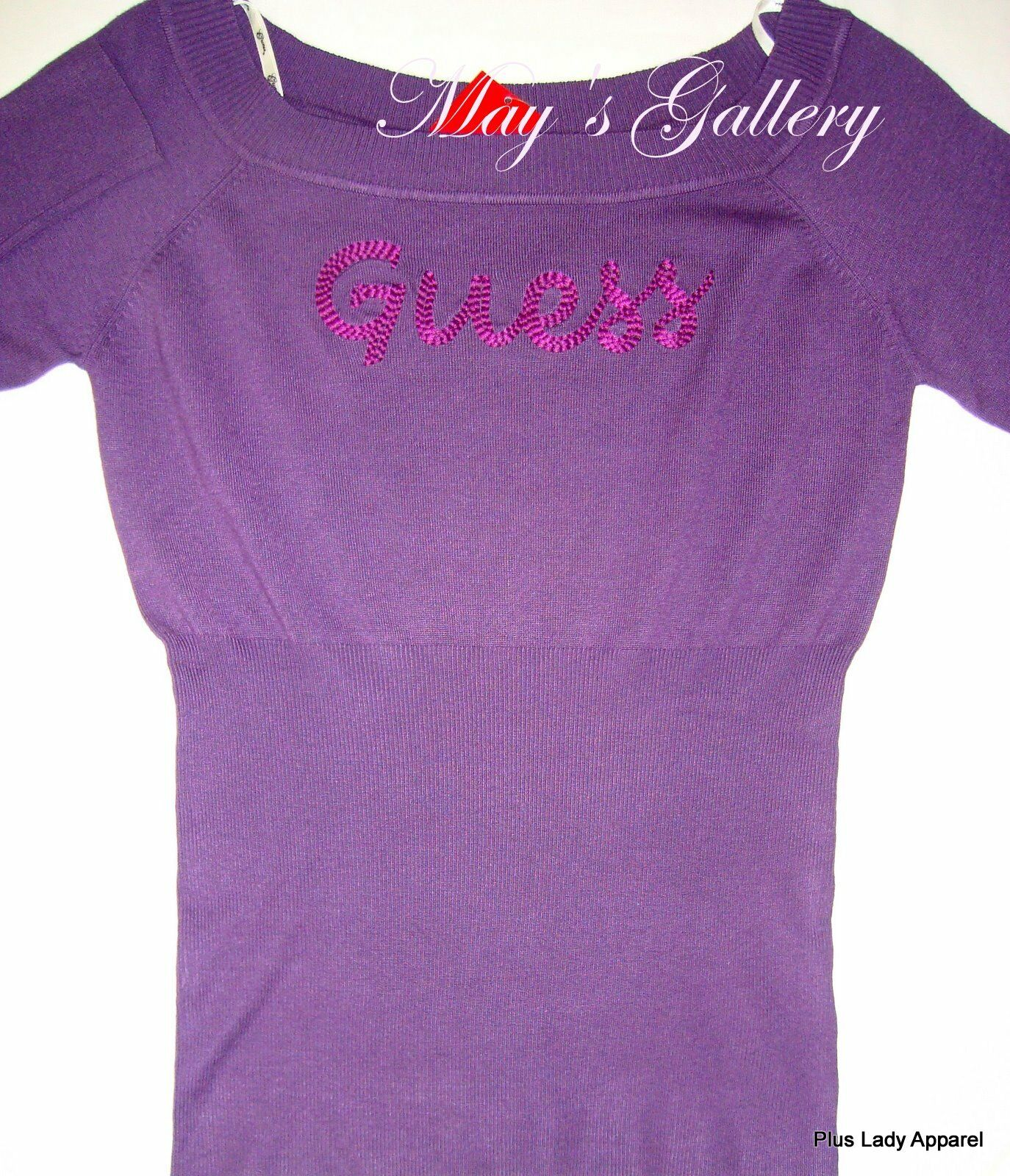 Guess  jeans Sweater T shirt  Tee Blouse Top Purple  Sweatshirt Hoodies  NWT XL