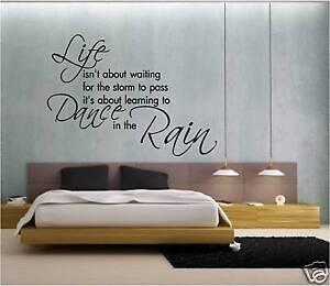 Wall Quote Dancing In The Rain Art Sticker Ebay