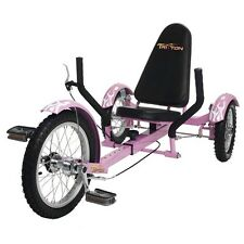 "Mobo TriTon 16"" 3 WHEEL Tricycle RECUMBENT Bike Pink TRI-001P"