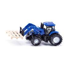 Siku 1487 New Holland Traktor mit Palettengabel blau Modellauto (Blister) NEU! °