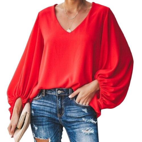 Übergröße Damen Langarm Bluse Baggy Tunika Longshirts Longtop Locker Oberteil