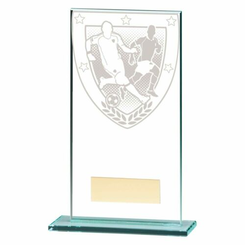 Millennium Football Jade Glass Trophies Trophy 5 sizes FREE Engraving
