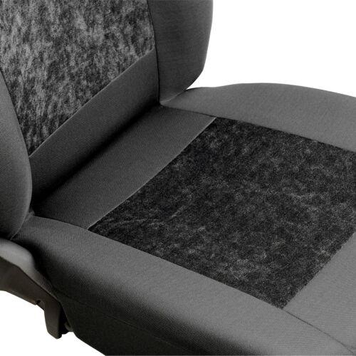 Grauer Velours Sitzbezüge für FIAT PANDA Autositzbezug Komplett