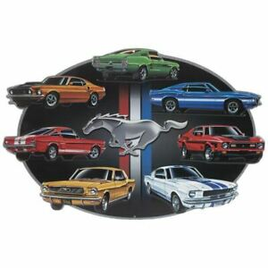 Ford, Shelby & MACH 1 Mustang 7-Car Embossed Sign * GREAT SIGN Ships FREE to USA