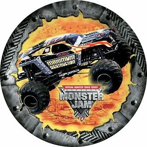 034-MONSTER-JAM-034-8-inch-20cm-Edible-Image-Cake-Topper