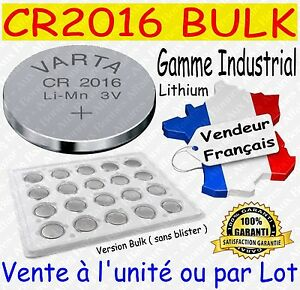 Piles boutons CR2016 VARTA - Disponibles aussi : CR2032 CR2025 / AAA LR03 AA LR6