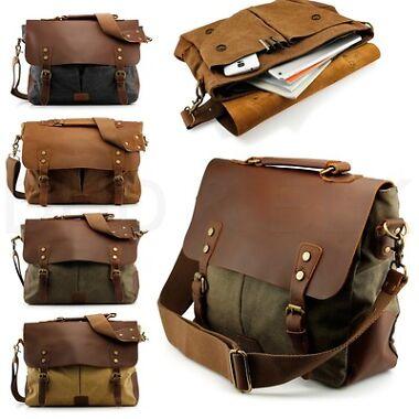 Vintage Style Men's Shoulder Bag
