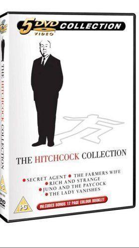 THE HITCHCOCK COLLECTION 5 DISC BOX SET LADY VANISHES SECRET AGENT UK DVD L NEW