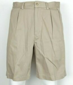 Polo-by-Ralph-Lauren-TYLER-Shorts-KHAKI-Classic-Pleated-Chino-Men-039-s-Size-30
