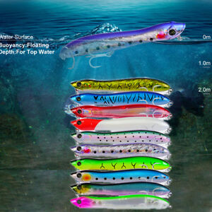 Steel-Ball-Crankbait-Minnow-Wobbler-Plastic-Hard-Crank-Bionic-Bait-Fishing-Lure
