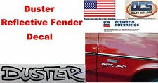 1970 71 Plymouth 340 Duster Reflective Fender Decal New MoPar USA