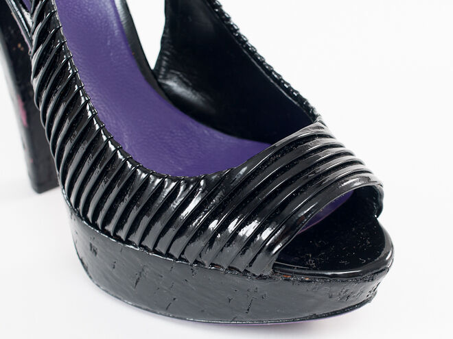 Nuevo Miu Miu 39.5 By Prada cuero negro apartado sandalias 39.5 Miu us 9.5 6cef2b