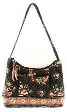 VERA BRADLEY  :: Chocolate Brown w/Orange-Red Floral :: Quilted Handbag :: Cute
