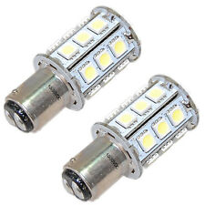 2-Pack HQRP 12V-24V DC BA15d Double Contact LED Bulb Replacement 1130 1176 1142