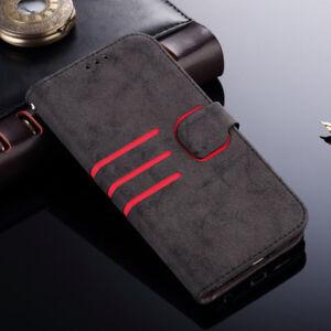 Coque-pour-Samsung-Galaxy-Retro-Etui-Housse-de-Protection-Flip-Portefeuille-Case