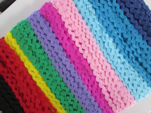 65 METER ZACKENLITZE 10 Farben je 6,5 meter gemischt   5mm  Tolle Artikel