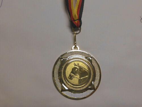 Reiten Reitsport Pferd Pokal Kids Medaillen mit Band/&Emblem Turnier Pokale e277