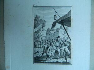 XVIII Antik Gravur Geschliffenes Süßwasser Monogramm P.G