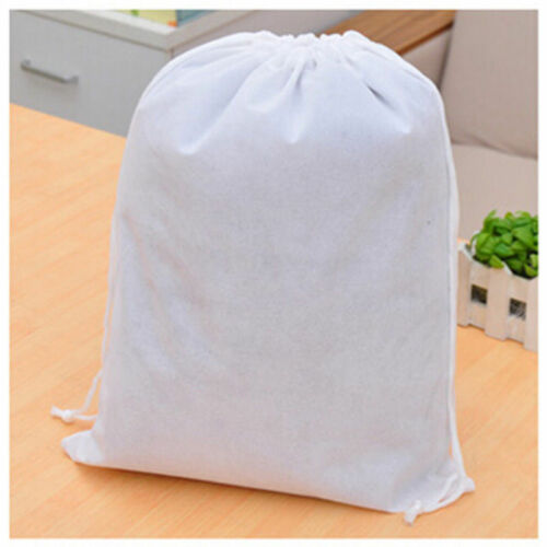 Lot Waterproof Non-Woven Drawstring Bags Wash Pouch Shoes Clothes Travel Storage