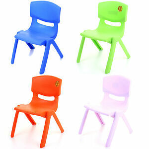 extra strong plastic childrens chairs kids tea party 12911 | s l300