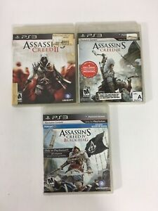 Assassin-039-s-Creed-2-3-And-Black-Flag-Xbox-360-w-Cases-CIB