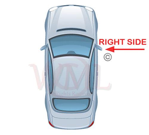 lado derecho calentado /& Base /> en Puerta//Ala Espejo de cristal de plata Peugeot 4007 2007