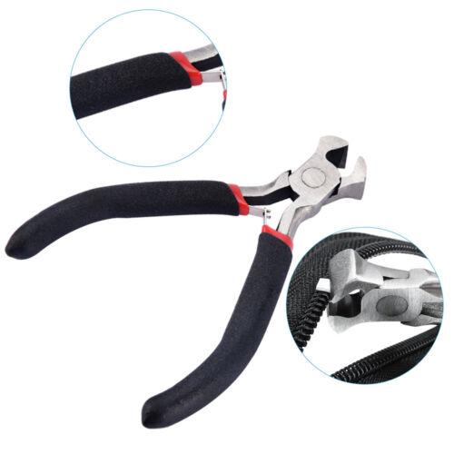 85-197er Reißverschluss Reparatur Set Metall Zipper Fixer Kopf Ersatz /& Zange DE