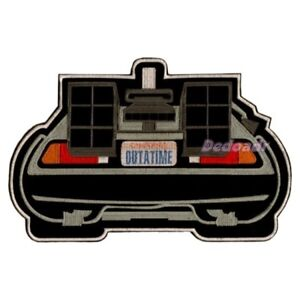 Back-to-the-Future-Embroidered-Big-Patch-Time-Machine-Delorean-Back-View-Flying